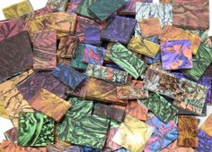 1 lb Van Gogh Stained Glass Jumbled Mix Mosaic Tiles - Select from 21 individual colors or a mix, your choice!