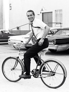 Paul Newman on the Warner Bros. lot - 1966.