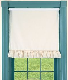 @Jessica Griffin  Mom wanted me to pin this to show you!! she wants these for her room and the porch.    Wide Ruffle Insulated Cordless Roller Shade