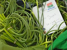 Garlic Scapes #scapes
