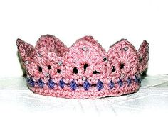 Crochet Pink Princess Crown by FairyThimbles on Etsy, $10.00