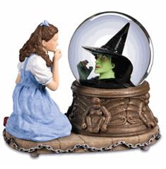 The San Francisco Music Box Company Dorothy and the Wicked Witch Inside Snow Globe