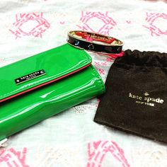 Hey ‪#‎katespade‬ lovers! We have this vibrant phone wallet ($18) and adorable bangle ($25) here at ‪#‎platosclosetkitchener‬. Call the store for any details and holds (519)-744-4404 ‪#‎greatdeals‬ ‪#‎greatbrands‬ ‪#‎moreforless‬ ‪#‎Fashion‬ ‪#‎designer‬ ‪#‎shopping‬ | www.platosclosetkitchener.com