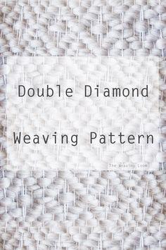 Best of Weaving Techniques Double Diamond Weaving Pattern The post Best of Weaving Techniques appeared first on Weaving ideas. Weaving Loom Diy, Weaving Art, Tapestry Weaving, Hand Weaving, Weaving Textiles, Weaving Patterns, Weaving Designs, Stitch Patterns, Knitting Patterns