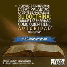 Mateo 7:28 - Porque #LaDoctrinaImporta
