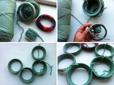 Can't wait to try this...a wreath from canning rings.