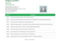 Electrical engineering Project list, Innovative projects ideas for EEE students