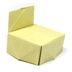 How to make a traditional origami chair (http://www.origami-make.org/origami-chair-traditional.php)