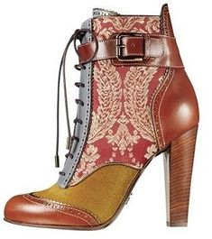 dolce and gabbana brocade fall 2012 Pretty Shoes, Beautiful Shoes, Cute Shoes, Me Too Shoes, Ankle Boots, Bootie Boots, Shoe Boots, Shoe Bag, Shoes Heels