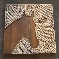 Rustic Horse String Art by BlissfulDaysDesigns on Etsy Hilograma Ideas, Diy And Crafts, Arts And Crafts, Nail String Art, String Art Patterns, Horse Crafts, Thread Art, Camping Crafts, Crafty Craft