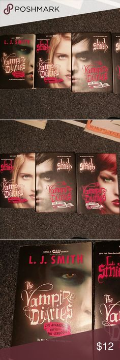 Four The Vampire Diaries Novels This is the first book of the Vampire Diaries series and the Return trilogy. The last two of the Return trilogy are hardback books and all are in nearly perfect condition. They are written by LJ Smith. vampire diaries Other