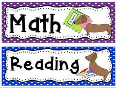 Classroom Theme~ Dachshunds!   150 pages of weenie dog cuteness!  ABC's, Days of the Week, Months of the Year, newsletter, subject headers, classroom job titles and so much more...with dachshunds!