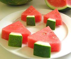 Ha ha leuk Amerikaans idee. Watermeloenen zijn hier in december niet eens te koop!!