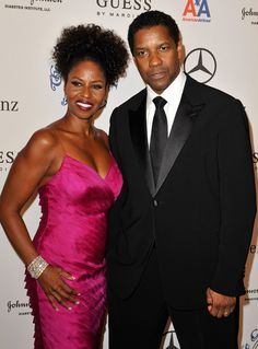 Actor & Oscar winner Denzel Washington with his wife Black Love, My Black Is Beautiful, Beautiful Couple, Black Celebrity Couples, Black Couples, Couples In Love, Power Couples, Romantic Couples, Denzel Washington