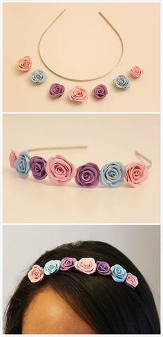 DIY Clay Floral Headband