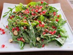 Greek Recipes, Desert Recipes, Greek Dishes, Salad Bar, Avocado Toast, Guacamole, Deserts, Beverages, Food And Drink