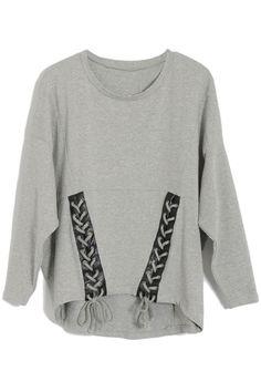 Batwing Sleeves Grey sleeves  $47.99 #romwe