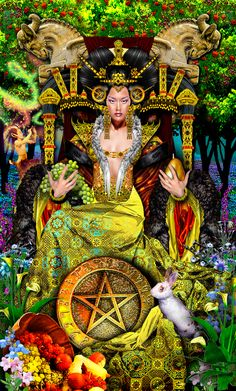 Tarot Illuminati - Queen of Pentacles