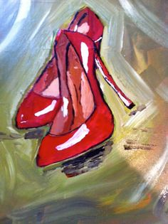Red Shoes Painting by rebeccawilliams4 on Etsy, $35.00