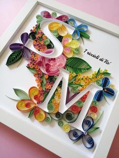 Arte Quilling, Quilling Letters, Paper Quilling Patterns, Quilling Paper Craft, Quilling Flowers, Paper Crafts, Paper Quilling For Beginners, Quilling Techniques, Wedding Quilling Ideas