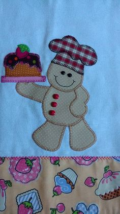 Patch apliqué by Nana Maciel Sewing Appliques, Applique Patterns, Applique Designs, Machine Embroidery Designs, Hand Embroidery, Quilt Patterns, Patchwork Quilting, Applique Quilts, Quilting Projects