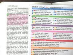 Scripture Marking System and Color Coding Guide for LDS Scripture Study - this one seems pretty good