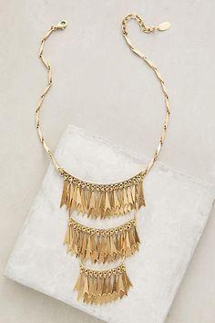 Elizabeth Cole Goldfringe Necklace #anthrofave #anthroregistry