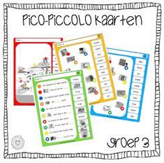 Kleuterjuf in een kleuterklas: GROEP 3 | Piccolo- / knijpkaarten Veilig Leren Lezen KIM Interior S, First Grade, Grade 3, Teaching Kids, Spelling, Mini, Classroom, Letters, Learning