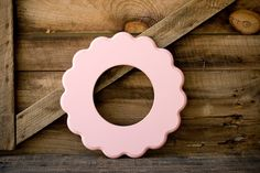 """8x8 whimsical and unique picture frame """"COOPER"""" Circular. $40.00, via Etsy."""