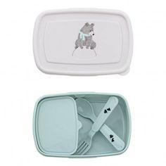 Lunch box con cubiertos Azul Cielo Bloomingville