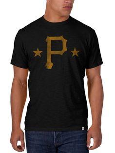 224920b98 Pittsburgh Pirates 47 Brand Black Gold Scrum Short Sleeve T-Shirt