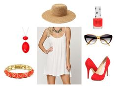 Coral Summer by ohsosara64 on Polyvore featuring polyvore, fashion, style, Roxy, Michael Antonio, Amrita Singh, Liz Claiborne, Forever 21, Retrò, Topshop and clothing