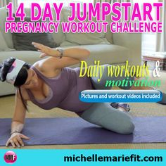 I'm totally doing this Pregnancy Workout Challenge.    This is my motivation to start exercising during pregnancy.  Pictures and workout videos included.    Workouts can be done from home and they are short.    I don't want to gain a lot of weight this pregnancy.
