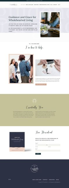 Essentially You is a safe place for women to grow in emotional well-being through Enneagram coaching. This website was created using the Eiderwild Squarespace kit by Station Seven. Combining Station Seven's minimalist aesthetic with Squarespace's powerful drag and drop interface, this squarekit includes all of the graphics, site settings and step-by-step video tutorials you need to recreate this exact gorgeous web design. See more at essentially-you.org! Website Design Inspiration, Beautiful Website Design, Design Ideas, Layout, Website Template, Safe Place, Video Tutorials, Templates, Landing
