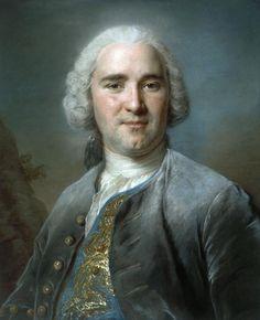 Maurice Quentin de La Tour, Portrait d'homme au gilet bleu.