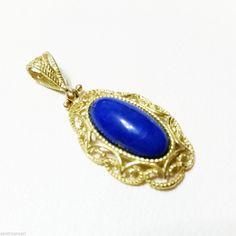 Ciondolo in Oro 18 kt Satinato con Lapislazzulo #ciondolo #gioielli #gioielleriacentrooro #gioielleria  #lapislazzulo #pendant #gold #gold18kt