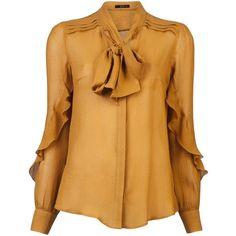 ETRO Chiffon tie blouse found on Polyvore