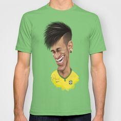 #Neymar - Brazil T-shirt by Sant Toscanni - $22.00