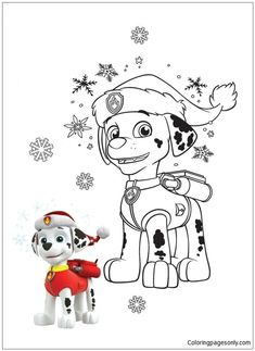 Paw Patrol 24 Coloring Page - Free Coloring Pages Online Monster Truck Coloring Pages, Paw Patrol Coloring Pages, Baby Coloring Pages, Dog Coloring Page, Coloring Pages For Kids, Coloring Books, Coloring Sheets, Coloriage Pokemon Mega, Paw Patrol Christmas
