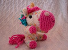 Cute Little Amigurumi Unicorn  Free Shipping by DonamarieCreations