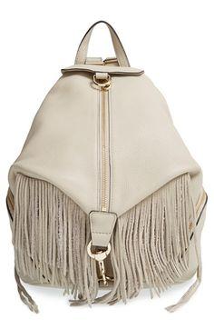 Rebecca Minkoff 'Julian' Backpack with Fringe available at #Nordstrom Love the bag. Fringe or no fringe.