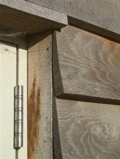 Oak cladding feather edge window detail