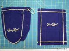 Crown Royal Bag Blanket Pattern | taking these Crown Royal Bags and turning them into quilt blocks.