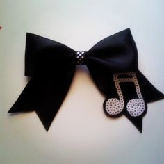 black and white music note hair bow by MiaBowPeepsBowtique on Etsy, $8.00