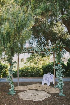 wedding ceremony chuppah - photo by Fondly Forever Photography http://ruffledblog.com/california-orange-grove-wedding