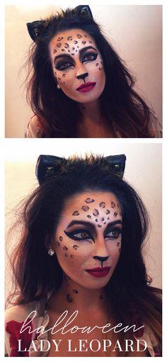 { — The Weekend Gypsy Cheetah Halloween Costume, Cute Halloween Makeup, Halloween Makeup Looks, Halloween Party Decor, Halloween Make Up, Halloween Costumes, Cheetah Makeup, Cat Makeup, Safari Party