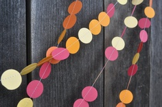 Paper Garland - Perfect contrast to a green Christmas tree!