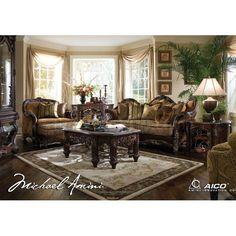 Aico Furniture EsManor 3 Piece Living Room Set 76815 Sco