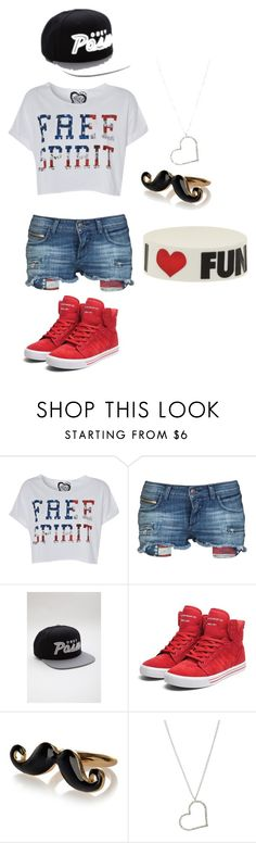 """""""Vendredi avant le départ."""" by alison-ordy ❤ liked on Polyvore featuring Rockstar Sushi, OBEY Clothing, Supra, River Island and Wet Seal"""