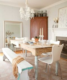 Interior Dinning Room Decorating Ideas with Vintage Style Furniture - Decoration   Stupic.com
